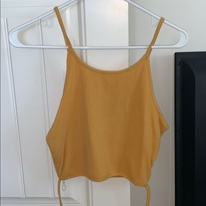Tops - wrap around tank crop top